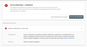 penalziacion linkbuilding google